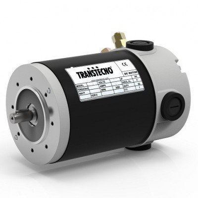 Transtecno 12v DC Motor 250W, 3000RPM, D63 B14A Flange, 11mm Shaft, IP44