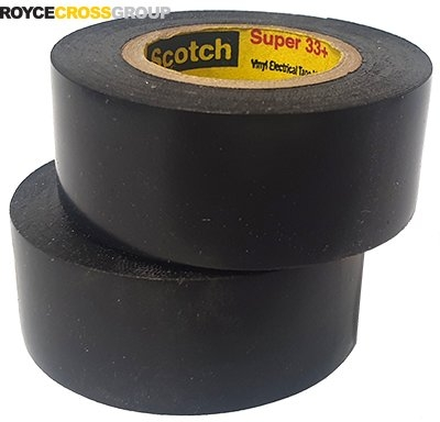 3m Super 33 Tape - 19mm x 6m - Black