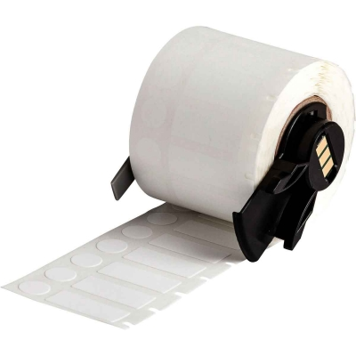 Round polyamide coated nylon cloth labels BMP71* TLS2200 B-499 500 roll white