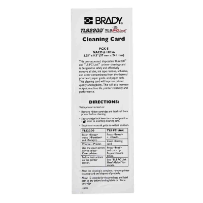 BMP61 TLS2200 Cleaning Kit Wipes 5 Pack
