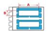 Durasleeve wire marking inserts for TLS 2200 printer - H4mm x W15mm