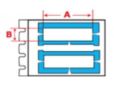 BPTLS-15-390 DuraSleeve wire marking inserts H4mmxW15mm