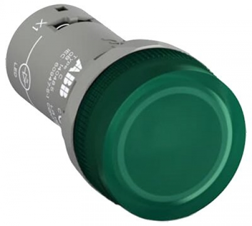 Compact Green Pilot Light 24V AC/DC