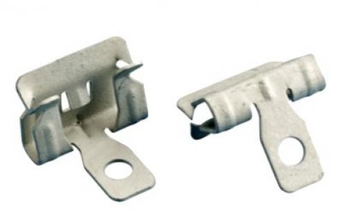 Hammer on flange clip 3mm side mount - 100 pack