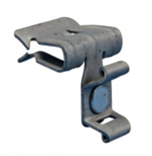 Cable tie holder with flange clip - 2mm to 3mm