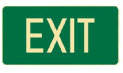 Exit Sign - H180mm x W350mm - Polypropylene