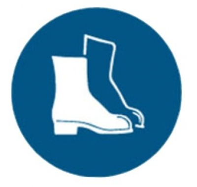 Foot Protection Pictogram Sign - 200mm Diameter