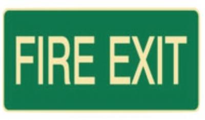 Luminous Fire Exit Sign - - H180mm x W450mm