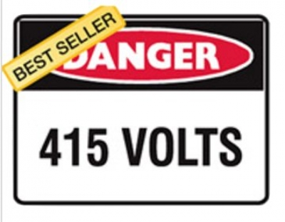 Danger Sign - 415volts - - H300mm x W450mm