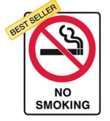 No Smoking Prohibition Sign - H450mm x W300mm Poly