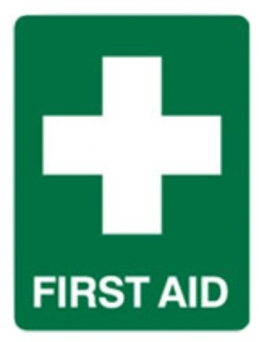 First Aid Sign - H450mm x w300mm Poly