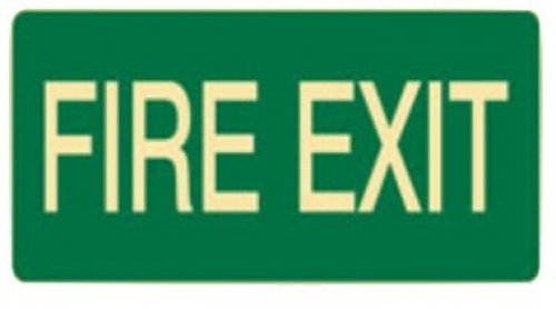 Exit and evacuation - fire exit luminous sign