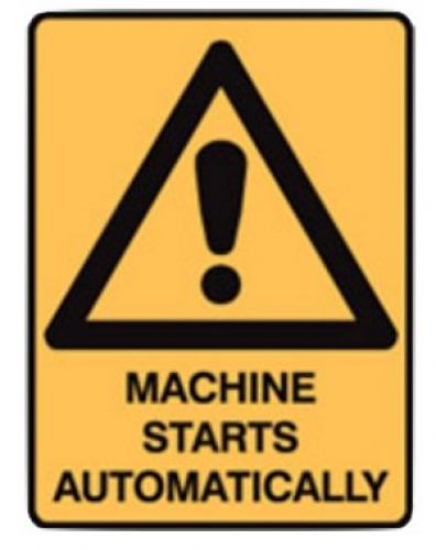 Machine starts automatically stick-on labels - five pack