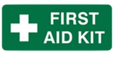 First Aid Kit Information Sign - H125mm x W300mm
