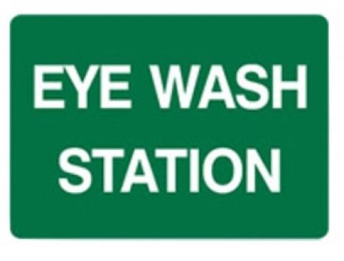 Eye Wash Station Sign - H225mm x W300mm - Poly