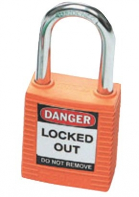 Brady Safety Plus Padlock - Orange