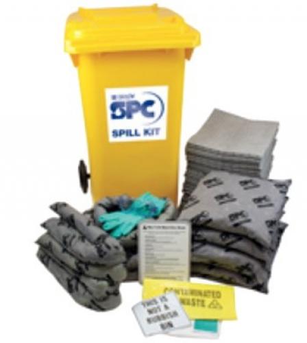 Large mobile spill kit for oil applications