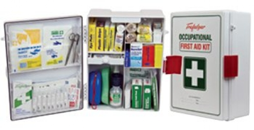Wall-mount ABS plastic national workplace first aid kit