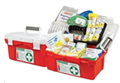 Portable Polypropylene National Workplace First Aid Kit - H200mm x W240mm x D230