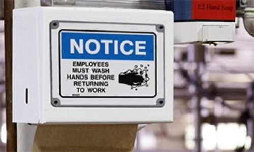 Employees must wash hands Toughwash sign 254x356mm