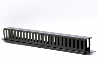 1RU Cable Management Slotted Duct - 24 Slots