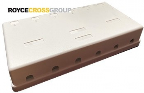 Six-port unloaded surface mount box