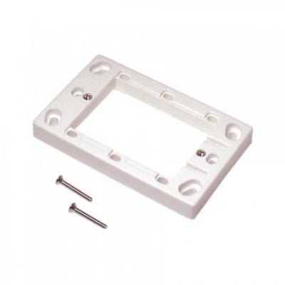 13mm white surface mounting block