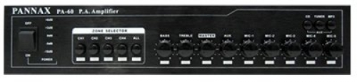 Pannax public address amplifier - 60W RMS