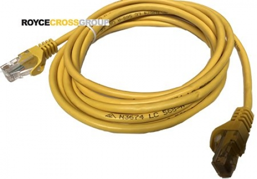3m cat 5e yellow patch lead