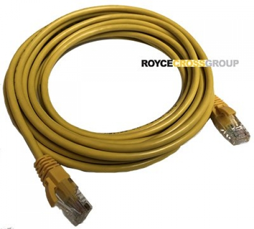 5m cat 5e yellow patch lead