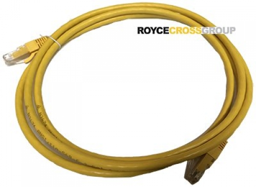 0.5m cat 6 yellow patch lead