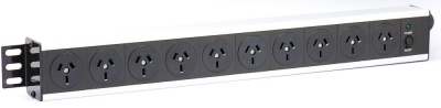 1RU 8 Way Horizontal Power Panel
