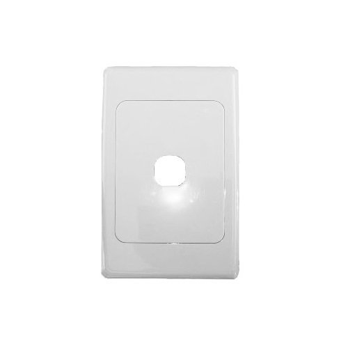 White one-port wall face plate