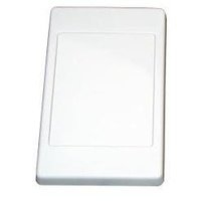 White blank face plate
