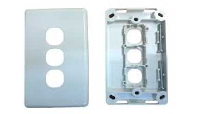 Three-gang classic wall plate