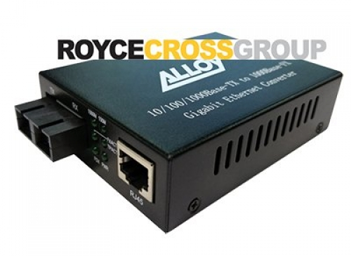 10/100/1000 base-T to single-mode 1310Nm gigabit fibre SC converter - 10km range