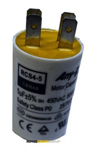 Run capacitor 5uF 450V plastic (30x50) P0 with terminals