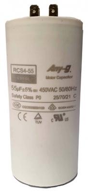 Run capacitor 55uF 450V plastic (55x110) P0 with terminals