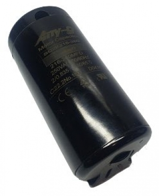 Start capacitor 216-260uF 250V plastic (52x111) P1 with terminals