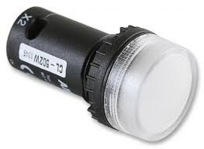 Pilot Lamp White LED 24v AC/DC