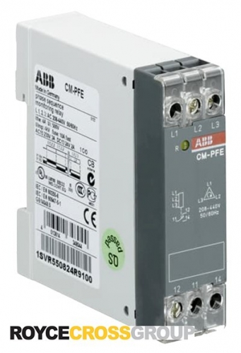 ABB Relay Phase Sequence Monitoring, 208-440V Ph-Ph (1SVR550824R9100)