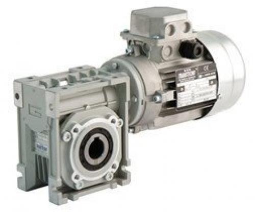 Transtecno Worm Box CM026 Ratio 60/1, D56 B14 Mount, 9mm Input, 12mm Output