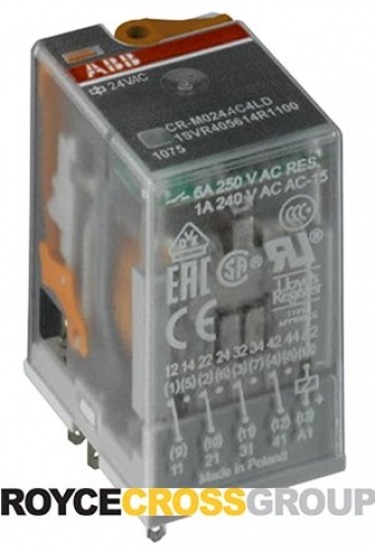Pluggable interface relay 24V AC