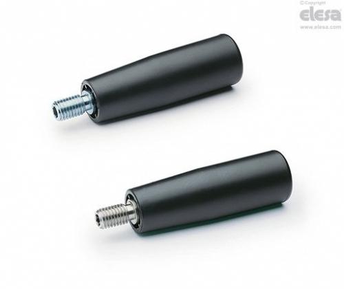 I.601 Revolving Handle 80mm Series, Black Handle, 26mm Diameter, M10x15mm Thread