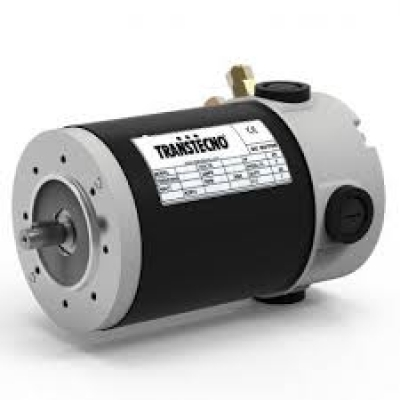 Transtecno 12v DC Motor 350W, 3000RPM, D63 B14A Flange, 11mm Shaft, IP44