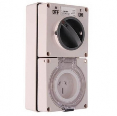 1 phase combination switch and socket - 15A
