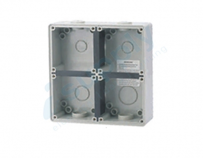 Enclosure Pulset 4 Gang IP56 Back Block