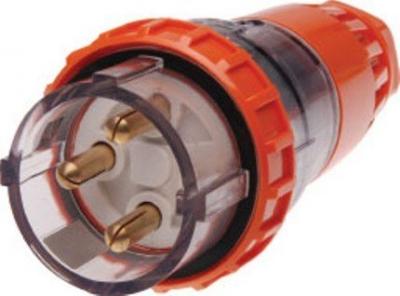 Plug Straight Pulset 3 Pin 32A 3 Phase 415v IP56