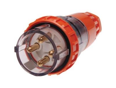 Plug Straight Pulset 4 Pin 32A 3 Phase 415v IP56
