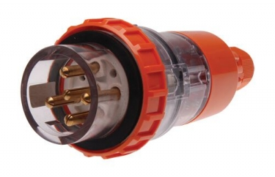 Plug Straight Pulset 5 Pin 20A 3 Phase 415v IP56